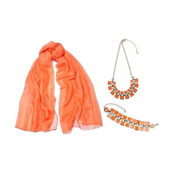 Šatka s náramkom a náhrdelníkom Orange