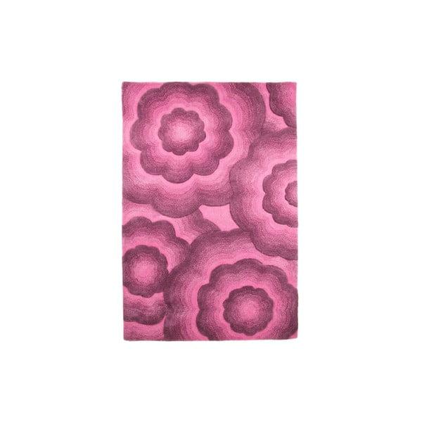 Vlnený koberec Realm 120 x 180 cm, fialový