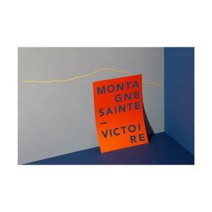 Pozlátená nástenná dekorácia so siluetou mesta The Line Sainte Victoire