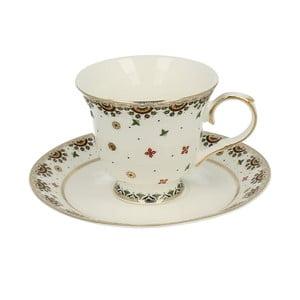 Porcelánová šálka s tanierikom Crou
