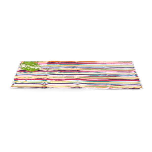 Set žehliacej podložky a zaťahovacej šnúry na prádlo Bonita Multi Strips Green