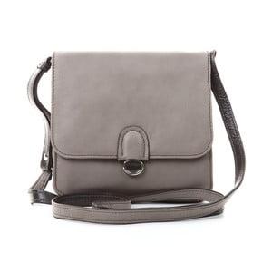 Sivá kožená kabelka Gianni Conti Mathilda