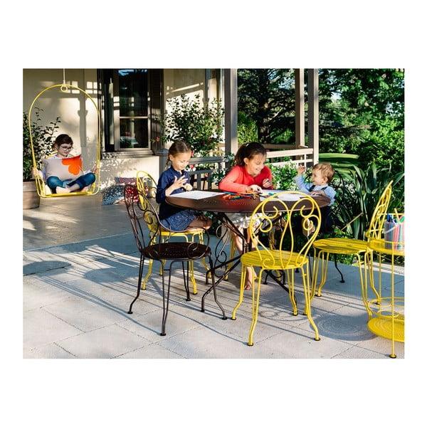 Oranžový kovový stôl Fermob Montmartre, Ø96cm
