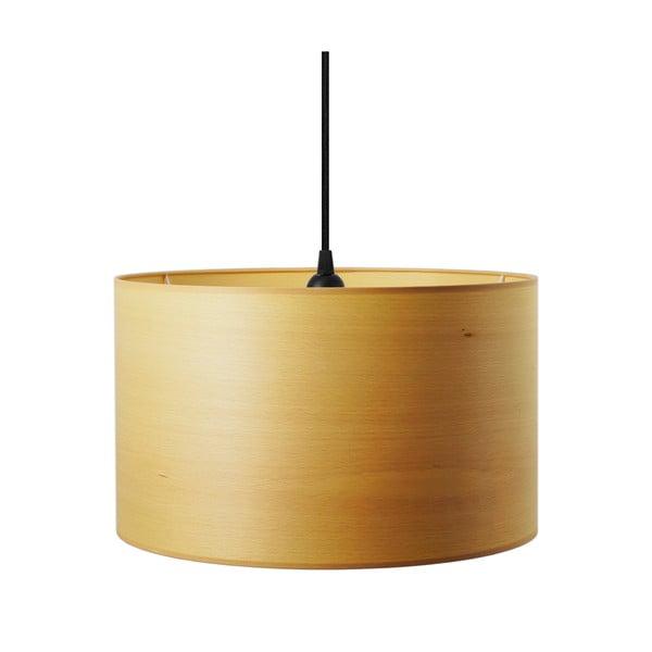 Závesné svietidlo z prírodnej dyhy vofarbe bieleného buka Sotto Luce TSURI B, Ø40 cm