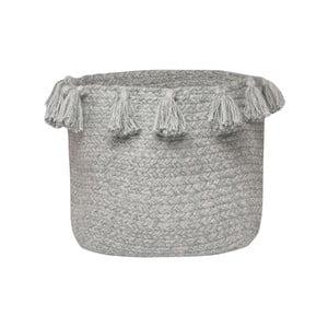 Sivý bavlnený úložný košík Nattiot Lennon, Ø25 cm
