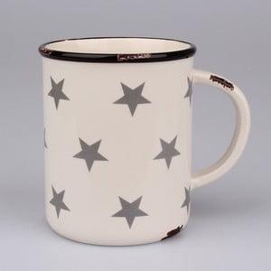 Biely keramický maxi hrnček s hviezdami Dakls, objem 750 ml