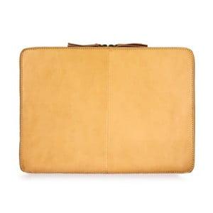 """Žltý kožený obal na notebook 15"""" O My Bag Zipper"""
