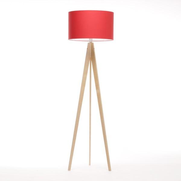 Červená stojacia lampa Artist, breza, 150 cm