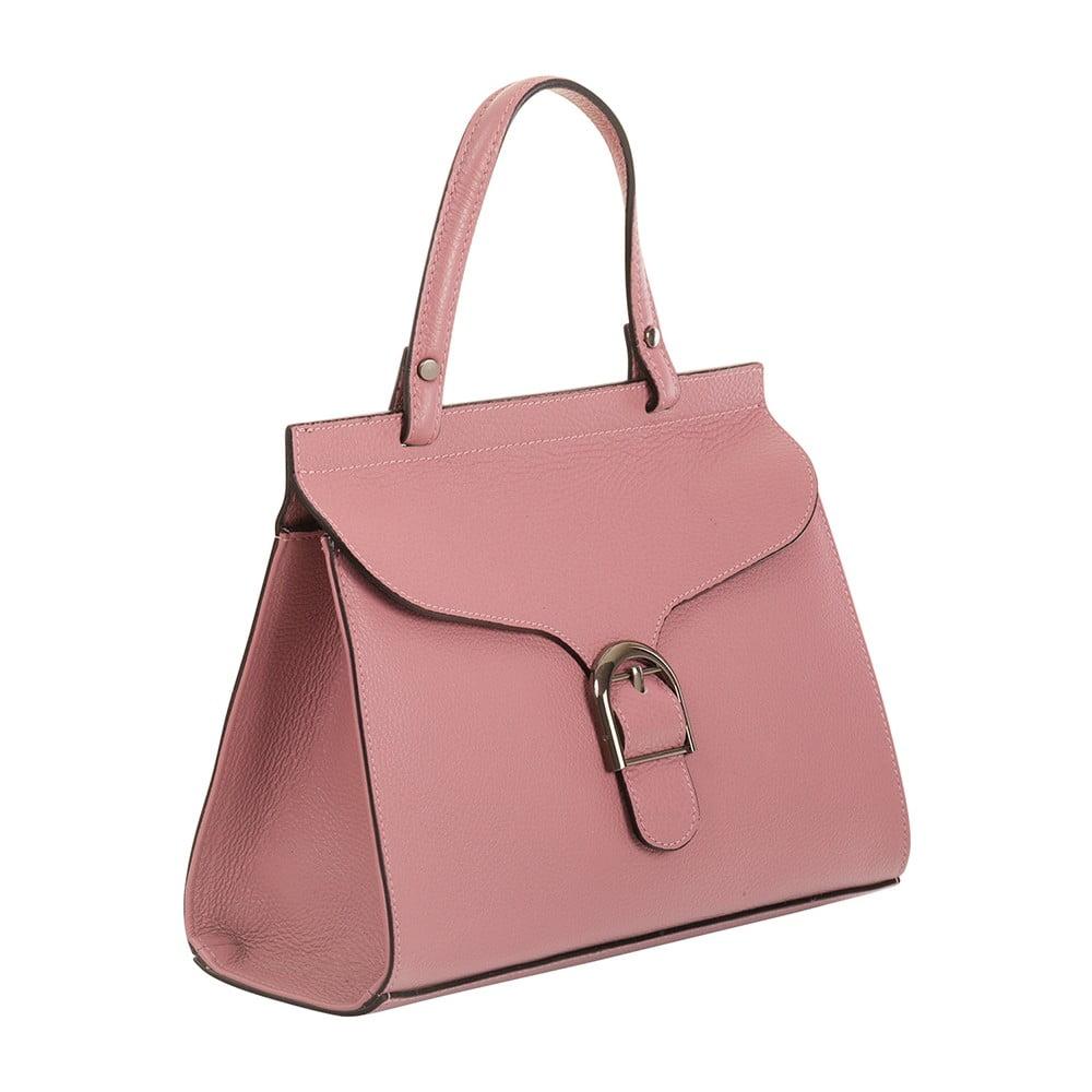 Ružová kabelka z pravej kože Andrea Cardone Thalia  426ea8879c4
