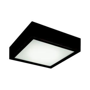 Čierne štvorcové stropné svietidlo Lamkur Plafond, 27,5 x 27,5 cm