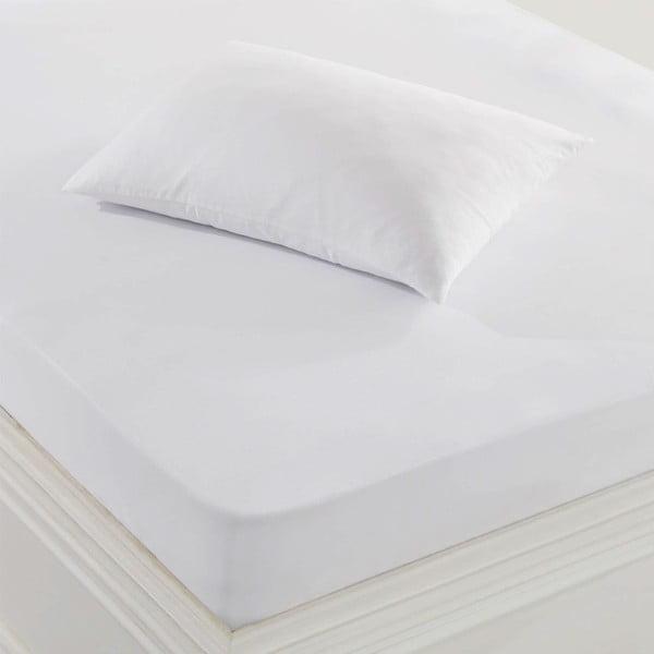 Biela ochranná obliečka na vankúš, 50 × 70 cm