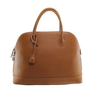Hnedá kožená kabelka Chicca Borse Griot