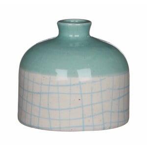 Modro-biela keramická váza Mica Fabio, 9x10 cm