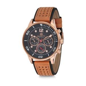 Pánske hodinky s hnedým koženým remienkom Bigotti Milano Croco