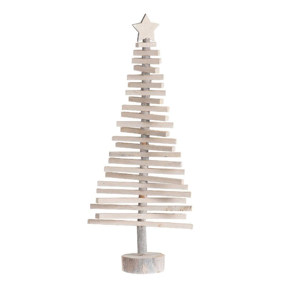 Vianočná dekorácia drevený stromček J-Line, výška 70 cm