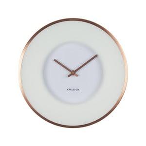 Biele hodiny Present Time Illusion