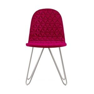 Ružová stolička s kovovými nohami IKER Mannequin X Triangle