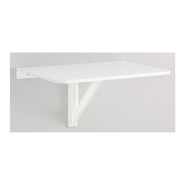 Biely skladací stôl na stenu Støraa Trento, 41×80cm