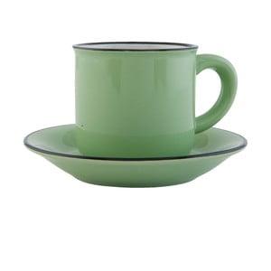 Šálka s tanierikom Clayre & Eef, 100ml, zelená
