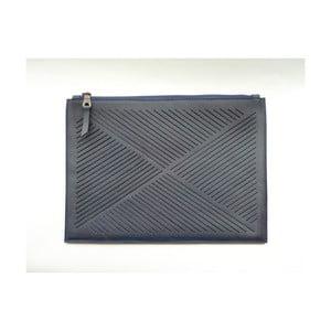 Taška cez rameno/listová kabelka Cut Out, modrá