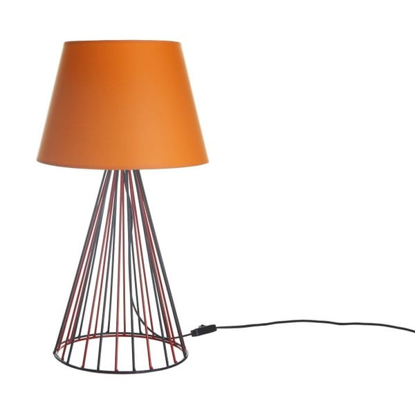 Stolová lampa Wiry Orange/Red/Black