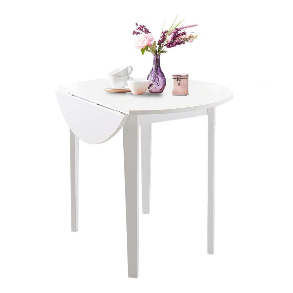Biely skladací jedálenský stôl Støraa Trento Quer, ⌀ 92 cm