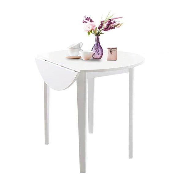 Biely skladací jedálenský stôl Støraa Trento Quer, ⌀ 92cm