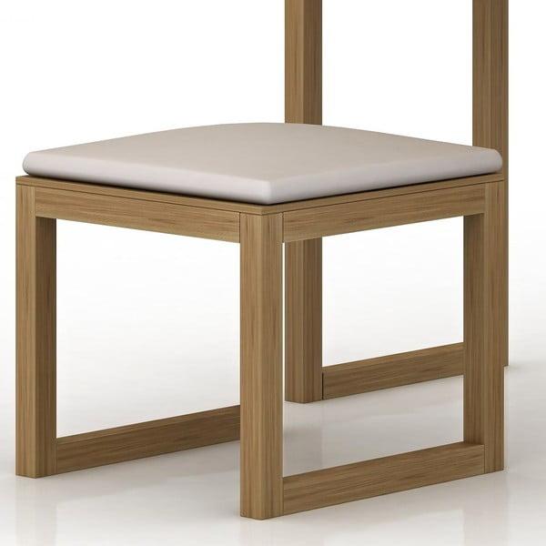 Stolička z dubového dreva k toaletnému stolíku Fornestas Sims