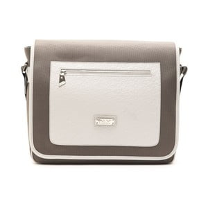 Sivá kožená pánska taška cez rameno Alviero Martini Rasetto