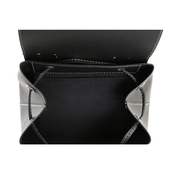 Čierny batoh z eko kože Beverly Hills Polo Club Polly