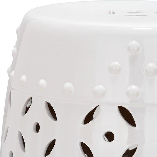 Keramický stolík Cyprus, biely