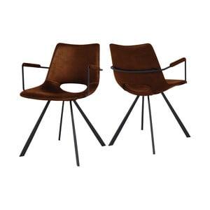 Hnedá jedálenská stolička s područkami Canett Coronas
