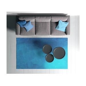 Modrý koberec Oyo home Suzzy gart, 100 x 150 cm