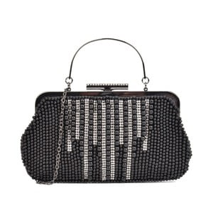 Čierna listová kabelka Mangotti Bags Divina
