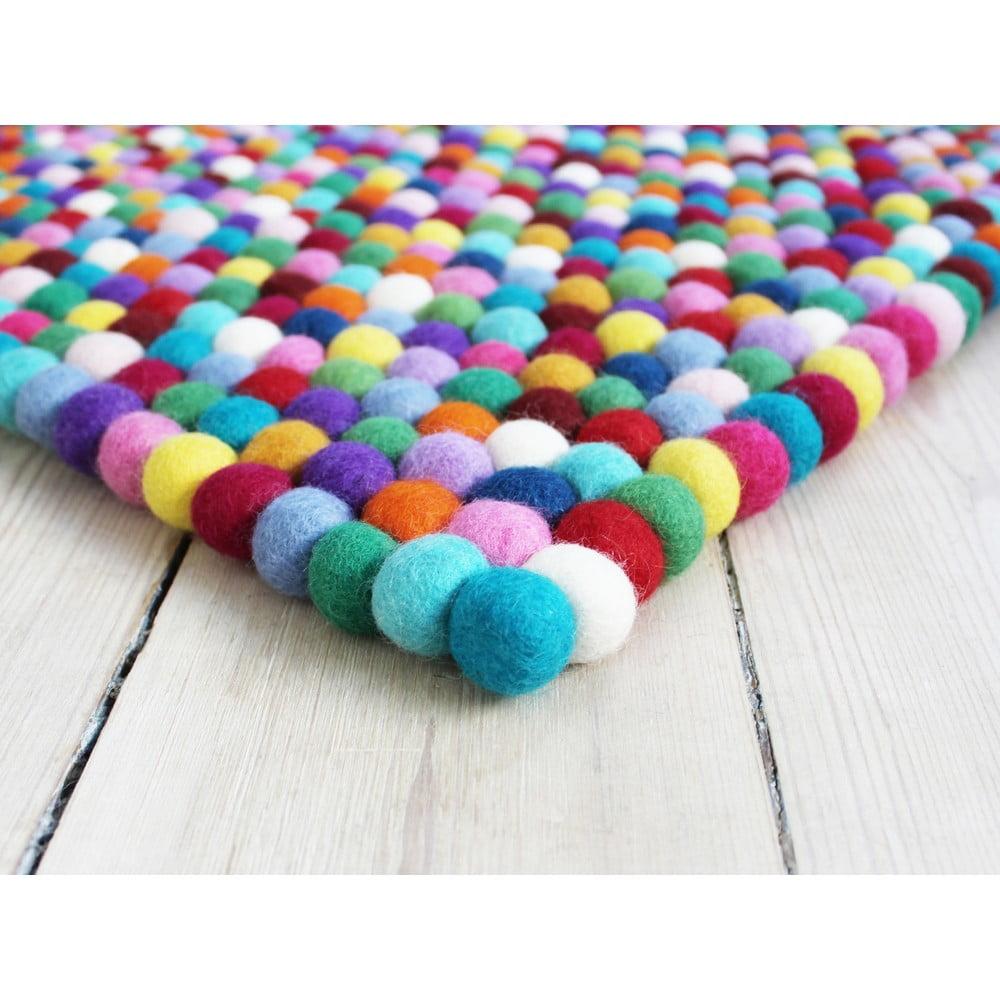 Guľôčkový vlnený koberec Wooldot Ball rugs Multi, 100 x 150 cm
