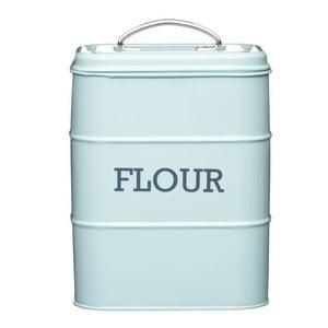 Modrá plechová dóza na múku Kitchen Craft Flour