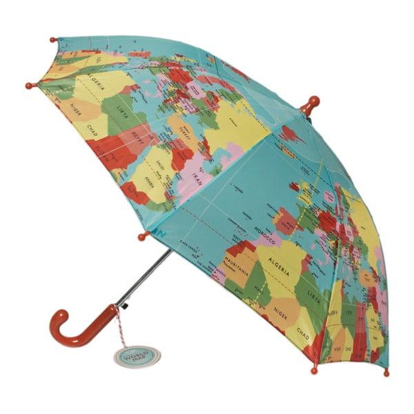 Detský tyčový dáždnik Rex London World Map