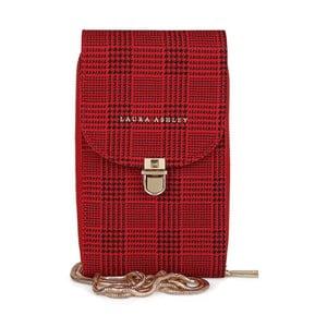 Červená listová kabelka Laura Ashley Kirby