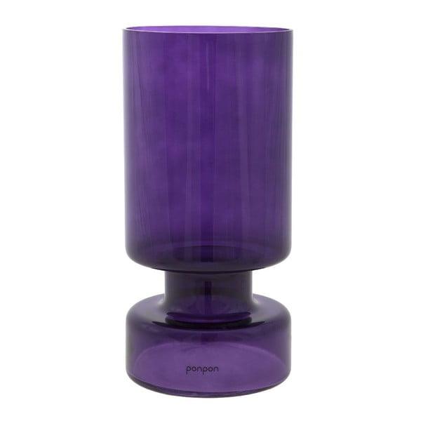Váza/svietnik Delhi 31 cm, fialová
