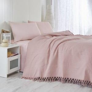 Ľahká prikrývka na posteľ Dusty Rose,220x240cm