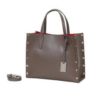 Béžová kabelka z pravej kože Andrea Cardone Gavia