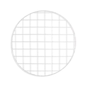 Biela drôtená nástenka Really Nice Things Circle Blanco, ⌀ 59 cm