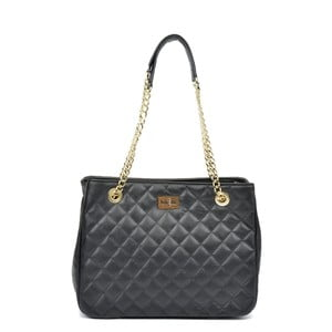 Čierna kožená kabelka Isabella Rhea Verde