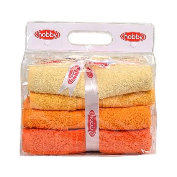 Sada 4 uterákov Rainbow Daisy, 50 x 90 cm