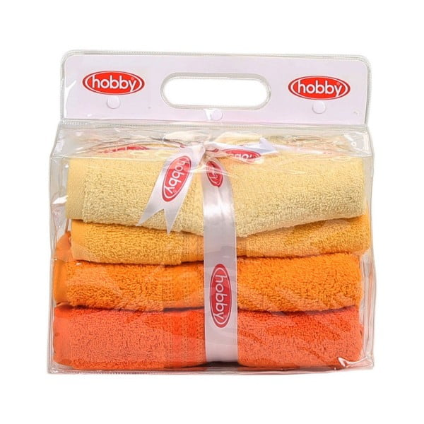 Sada 4 uterákov Rainbow Daisy, 50×90cm