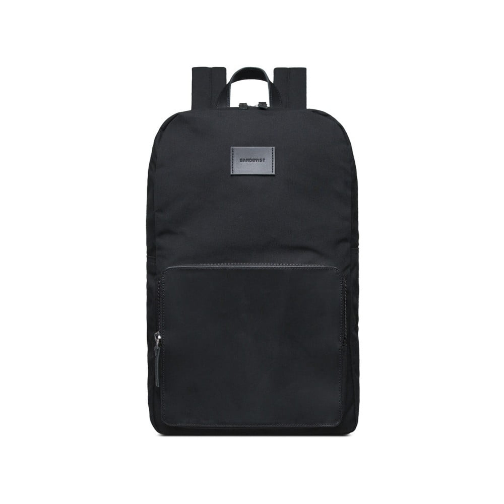 adfd02a58f9e5 Čierny batoh s koženými detailmi Sandqvist Kim