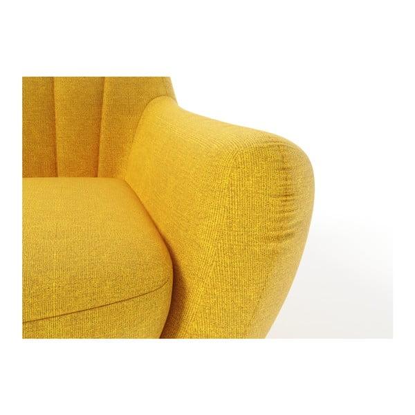 Žltá pohovka pre troch Wintech Azzurre