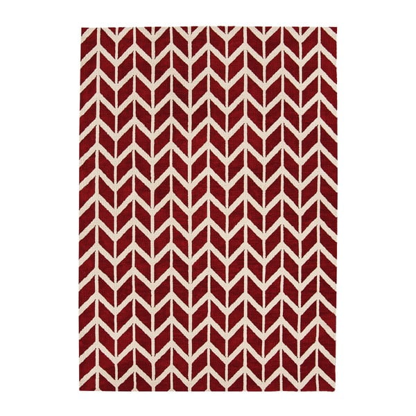 Koberec Asiatic Carpets Chevron Red, 100x150 cm