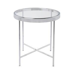 Biely príručný stolík Leitmotiv Smooth, 42,5×46cm