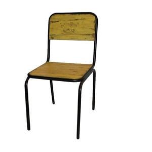 Jedálenská stolička Antic Line Industrielle Jaune